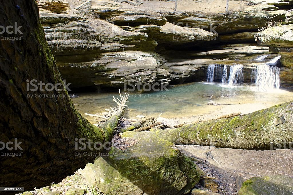 Old Man Cave Waterfall 2 stock photo