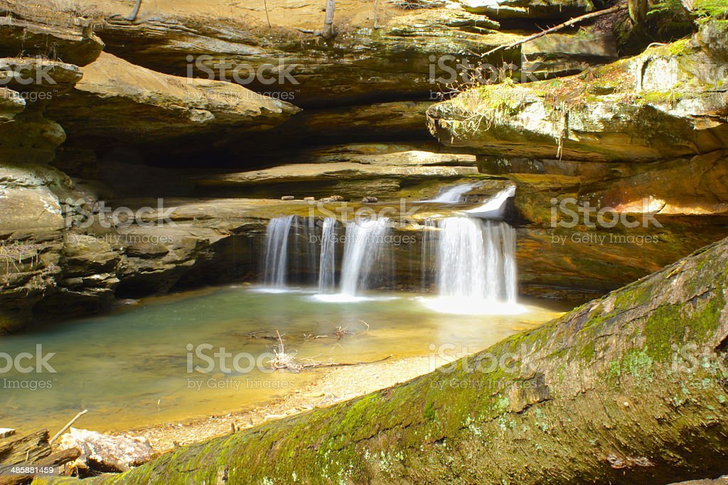 Old Man Cave Waterfalls stock photo