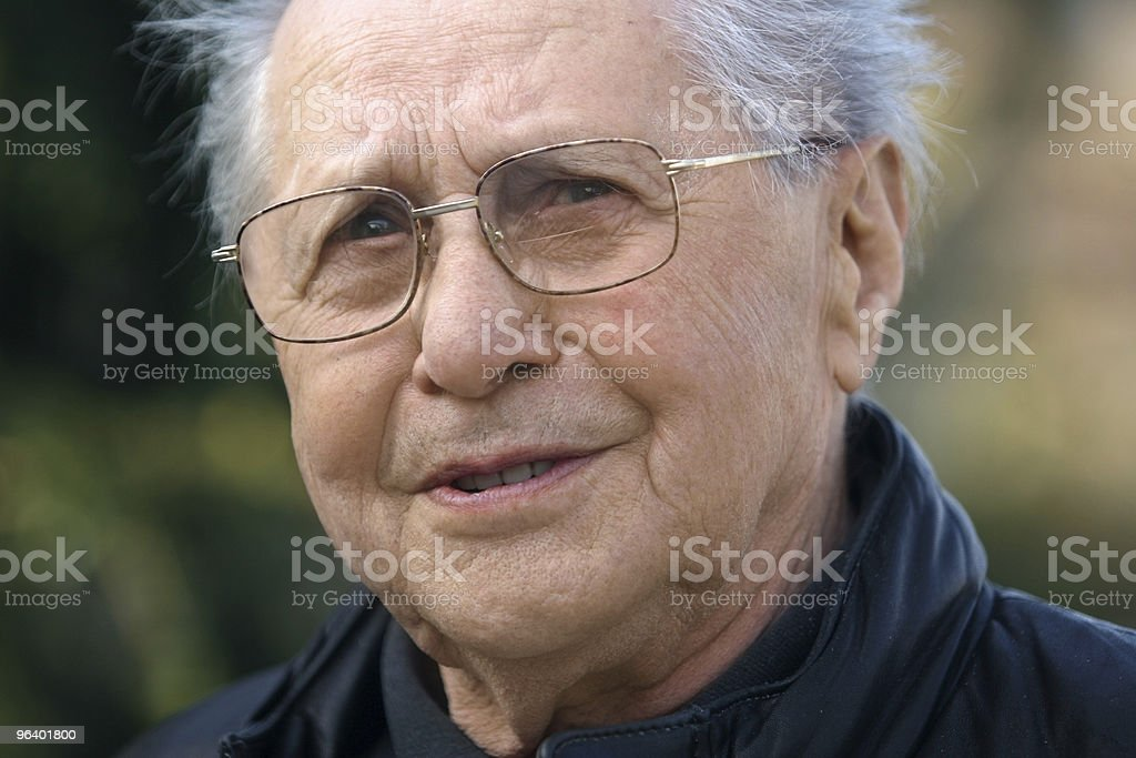 Old man close-up royalty-free stock photo