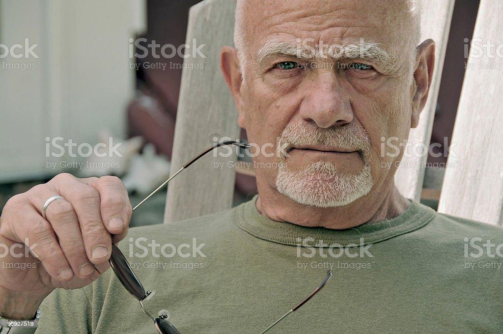 Old Man Glares stock photo