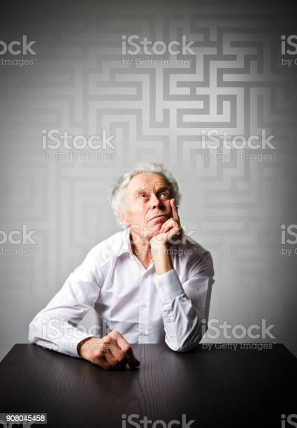 Old man in white is looking for the solution maze concept picture id908045458?b=1&k=6&m=908045458&s=612x612&h=oosy0dyarob p hqka4d5ljlmlkras cmoti yzmsci=