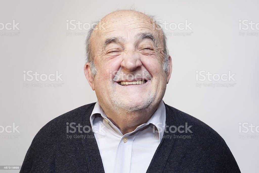 Alter Mann lacht – Foto