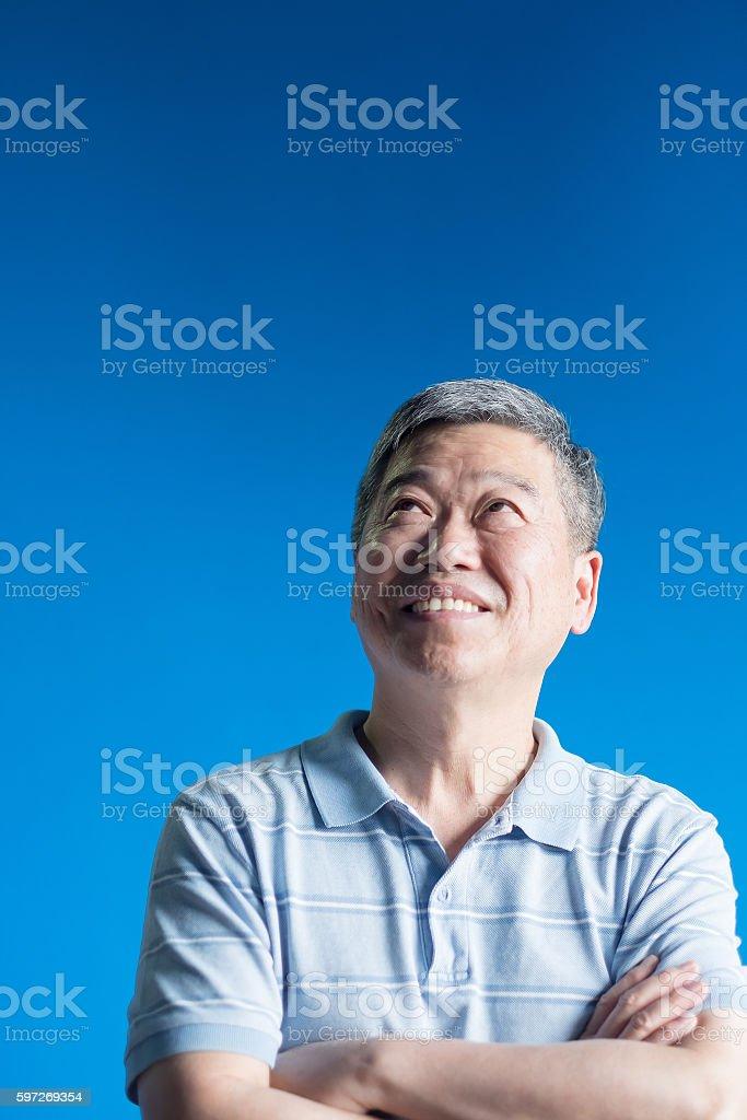 old man look some where Lizenzfreies stock-foto