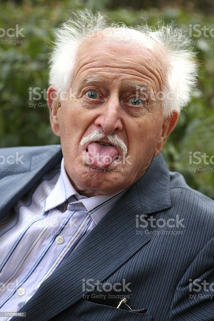 old man making a face royalty-free stock photo