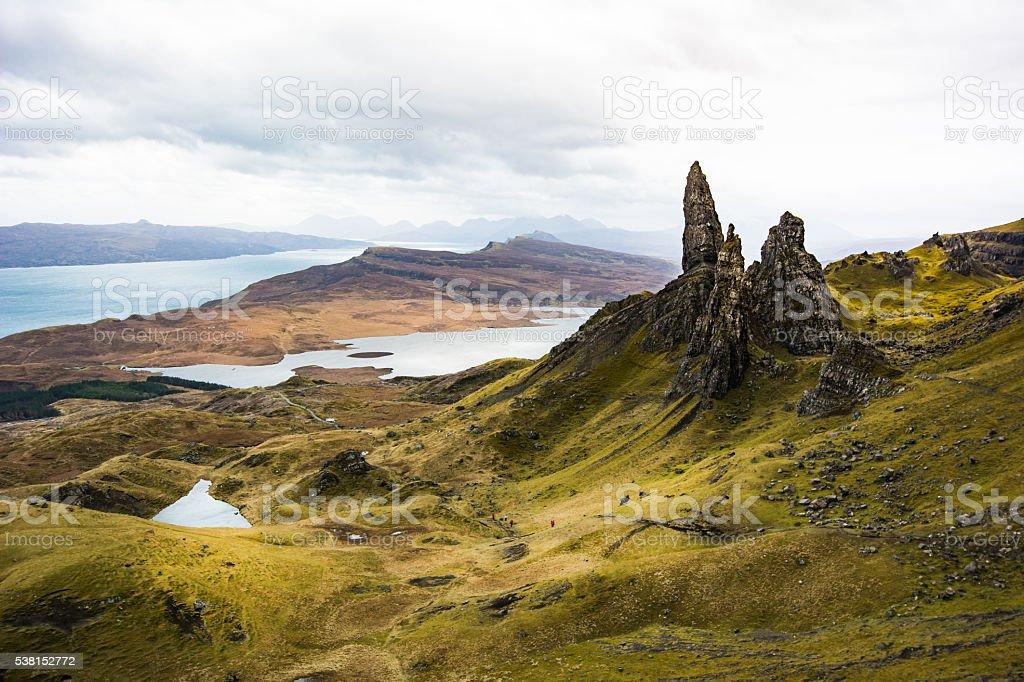 Old Man of Storr, Isle of Skye ,Scotland stock photo