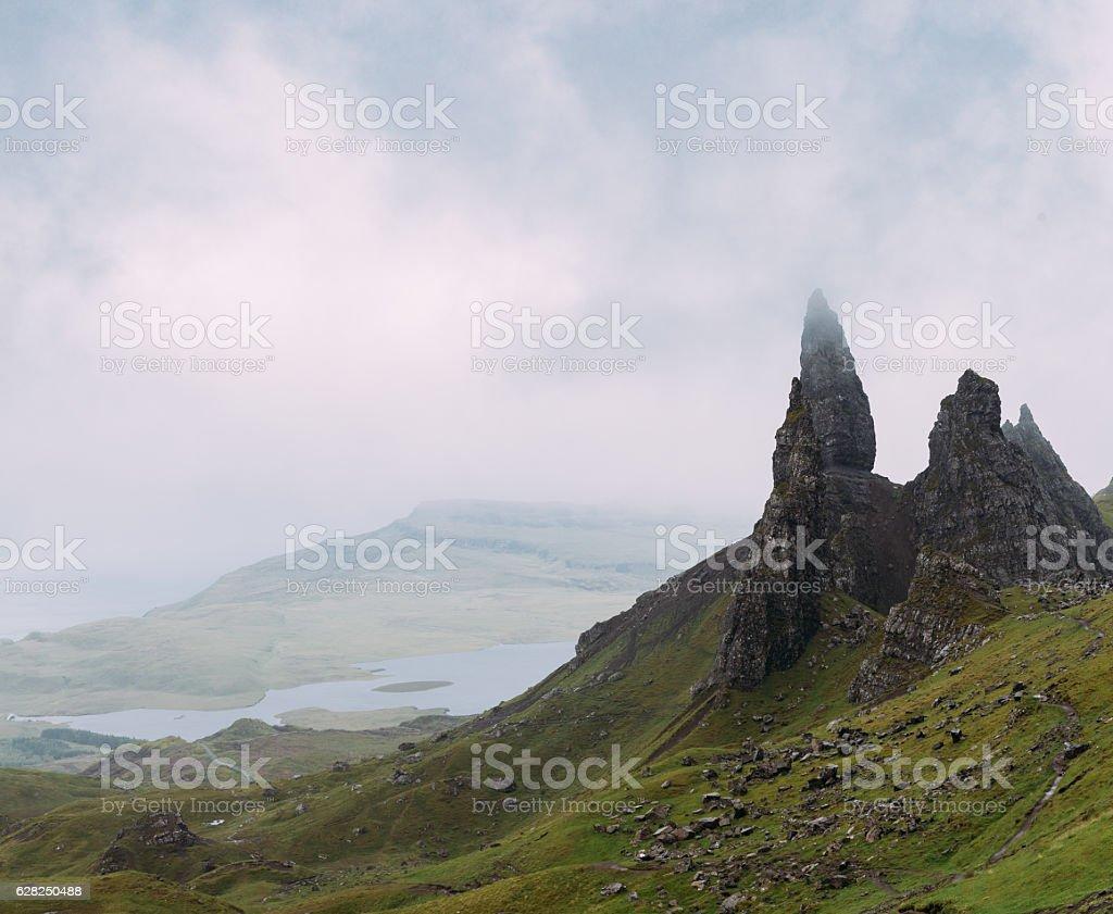 Old Man of Storr on Isle of Skye stock photo