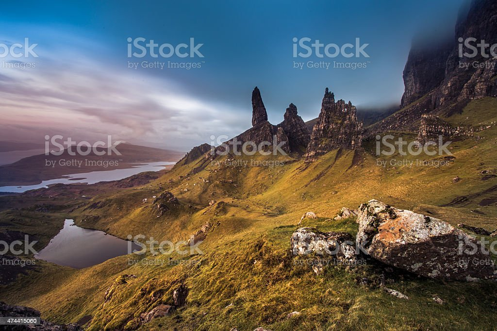 Old Man Of Storr stock photo