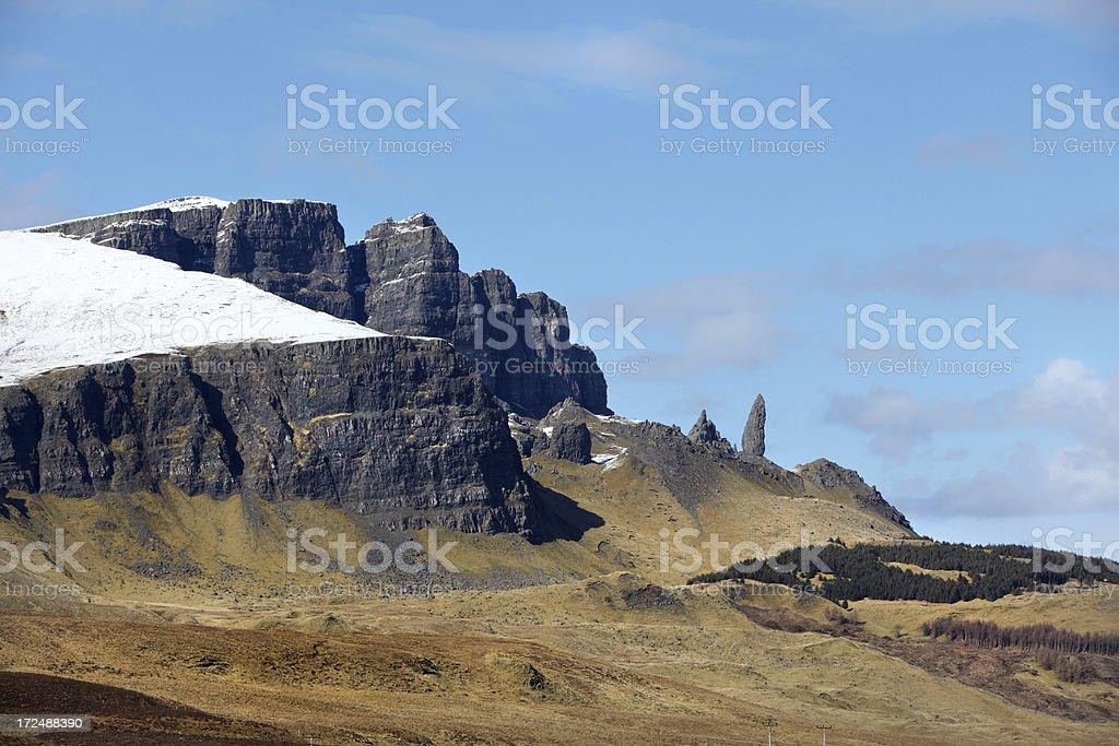 Old Man of Storr, Skye, Scotland royalty-free stock photo