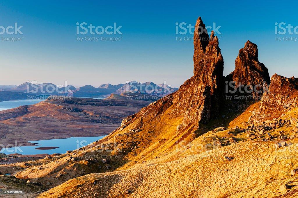 Old Man of Storr, Skye, Scotland stock photo