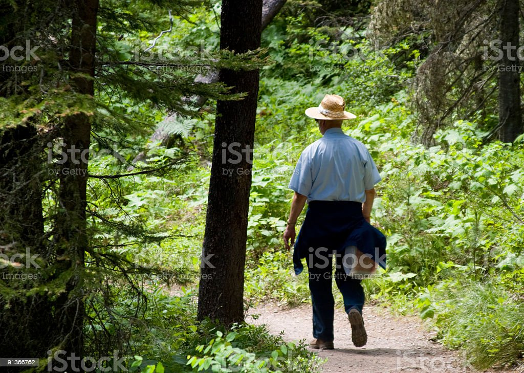 Old Man out for a Walk royalty-free stock photo