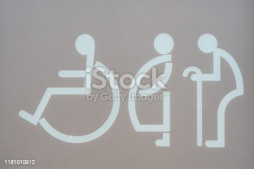 Door, Toilet, Advice, Pregnant, Senior Adult