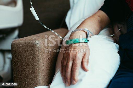 istock Old man patient 645011548