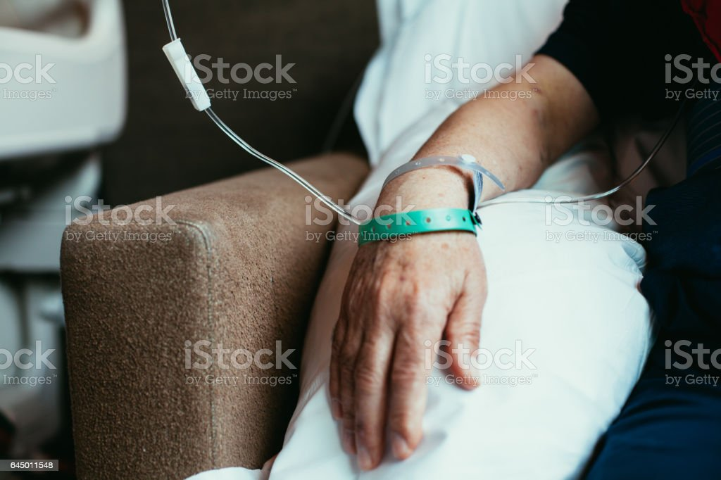 Old man patient stock photo