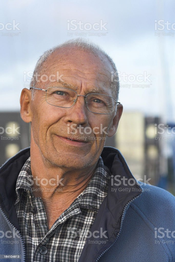 Old man stock photo