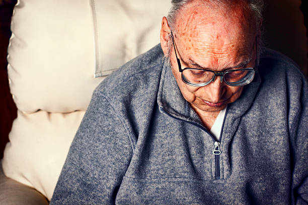Old Man Close up of an 86 year old man. Similar images. dark spots face stock pictures, royalty-free photos & images