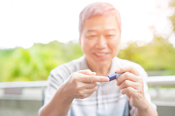 old man prevention of diabetes – Foto