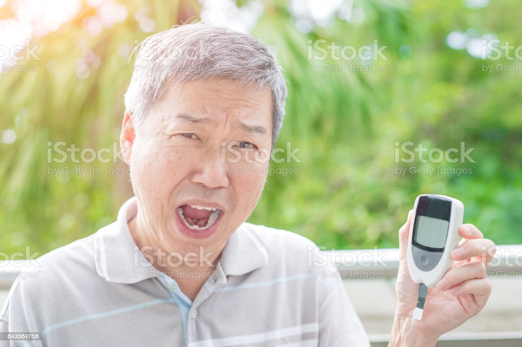 old man prevention of diabetes ,asian people