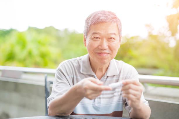 Alter Mann Prävention von diabetes – Foto