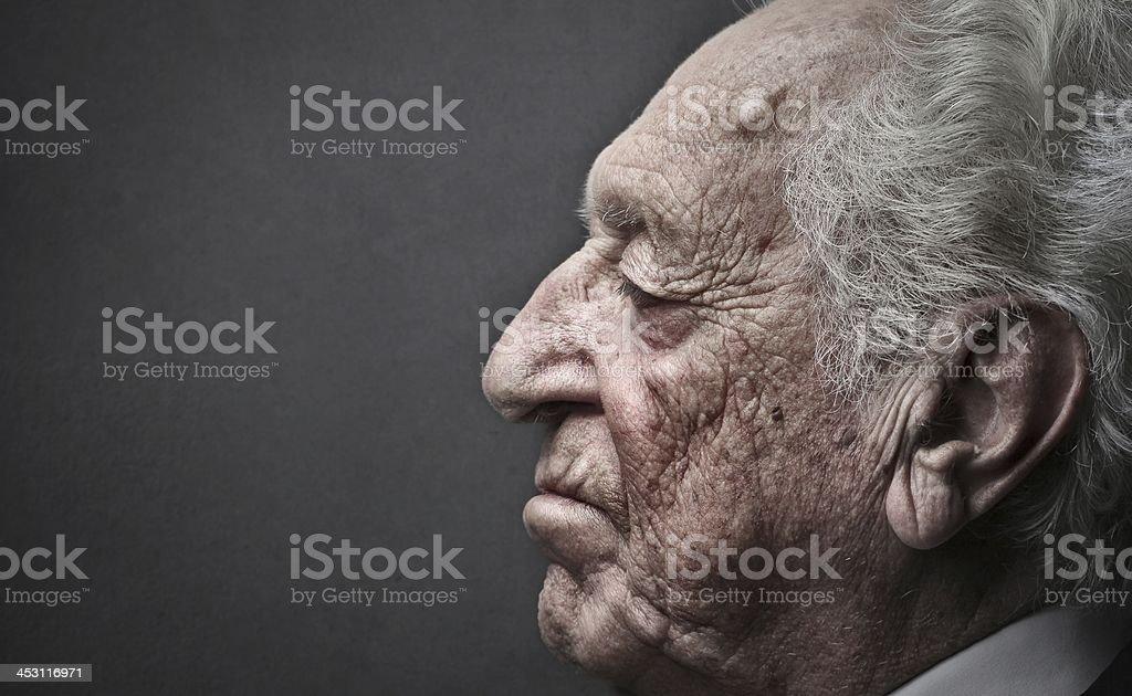 Old man profile