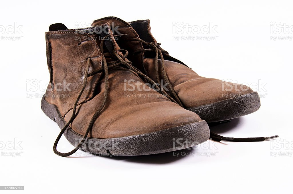 Old man shoes royalty-free stock photo