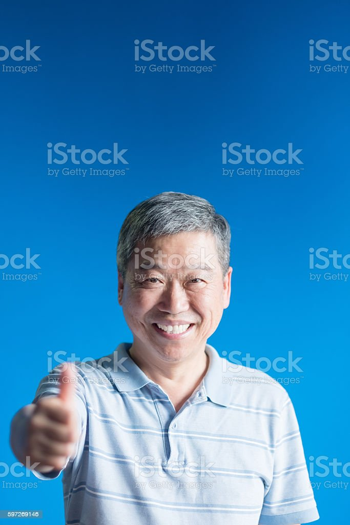 old man smile happily royalty-free stock photo