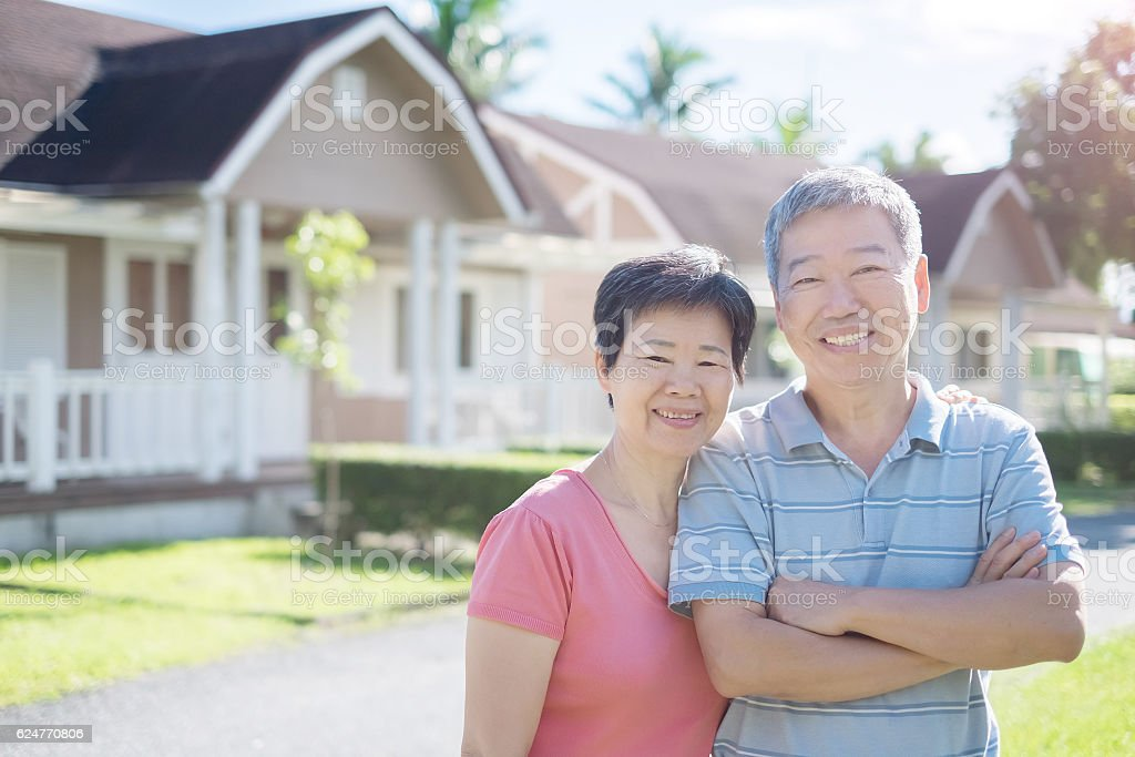 old man smile to you stock photo