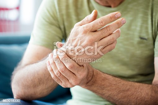 istock Old man suffering from pain and rheumatism 862018330