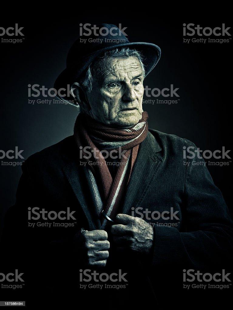old man surprised stock photo