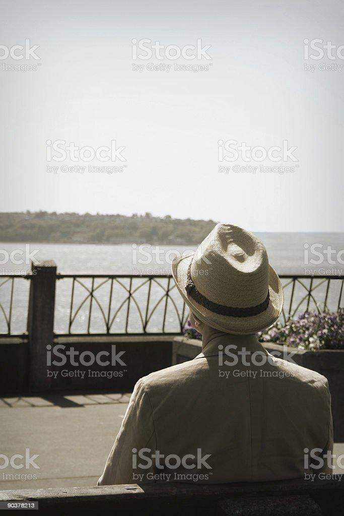 Old Man Thinking (1) royalty-free stock photo