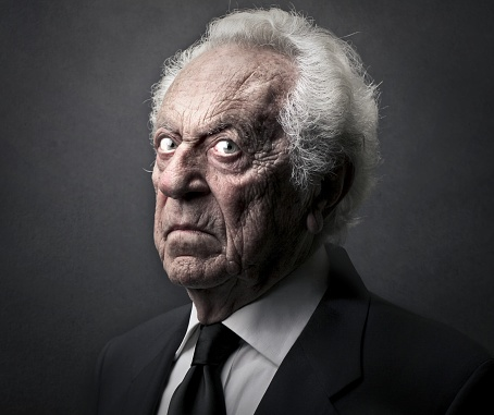 old man with an evil look stock photo  download image now