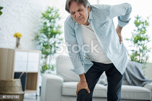 821012164istockphoto Old man with back pain 821012152