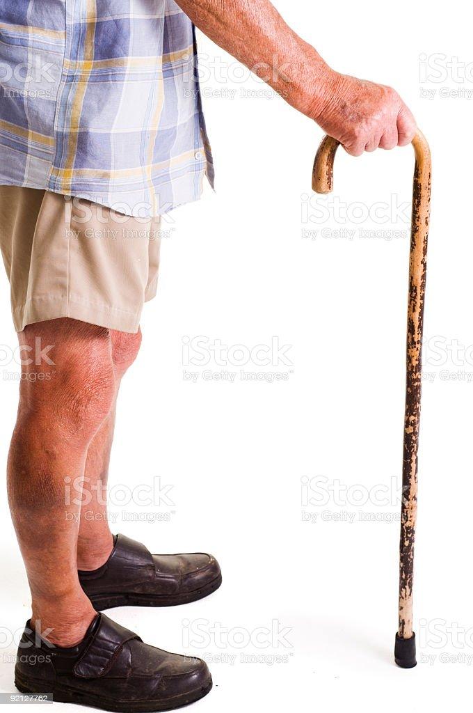 Viejo hombre con poca stick - foto de stock