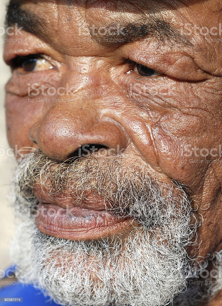 old man with wrinkled face stock photo