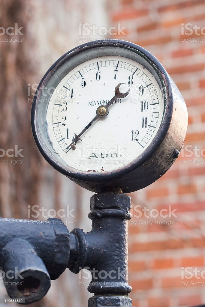 Old manometer royalty-free stock photo