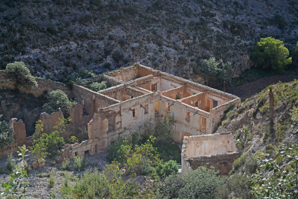 Old mansion ruins Old mansion ruins real de catorce stock pictures, royalty-free photos & images