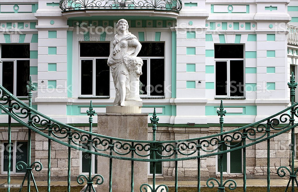 Old mansion.Fragment. royalty-free stock photo