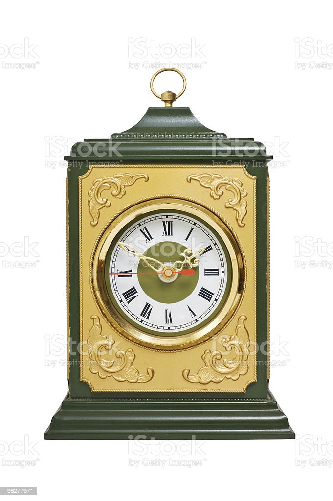 Vecchio orologio mantle foto stock royalty-free