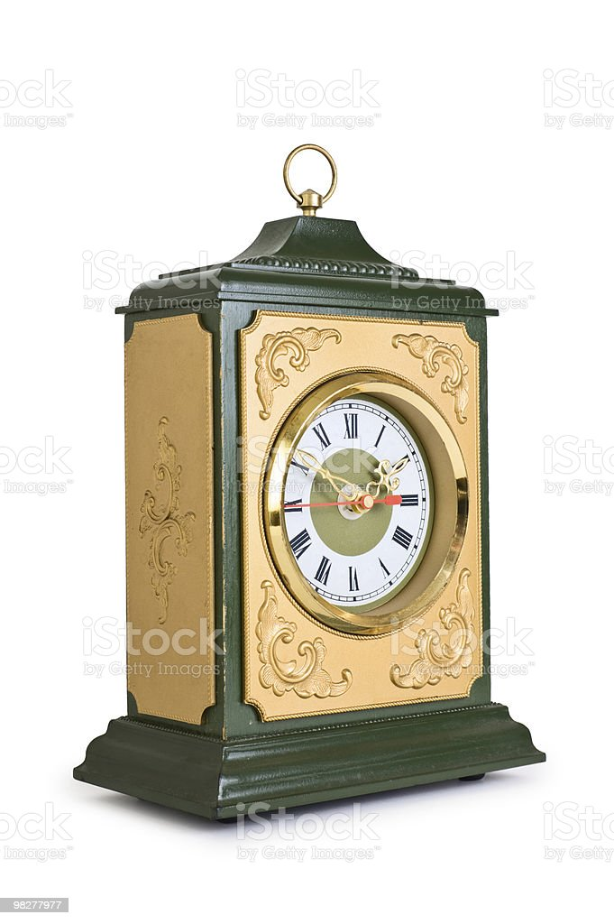 old mantle clock royalty-free stock photo