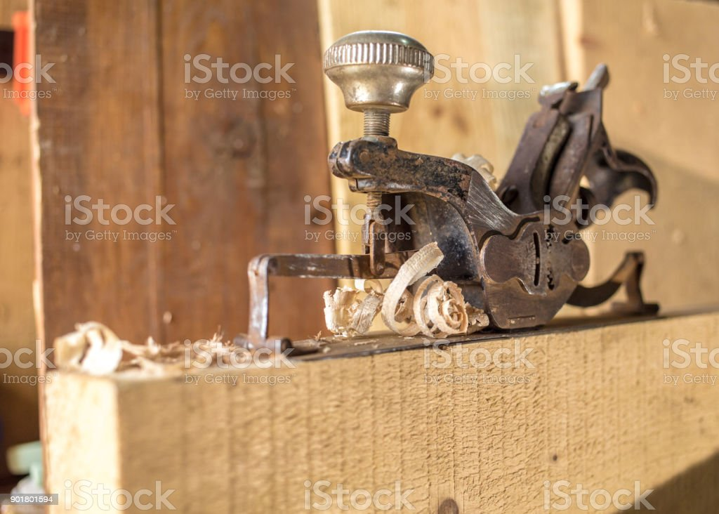 Old manual plane stock photo