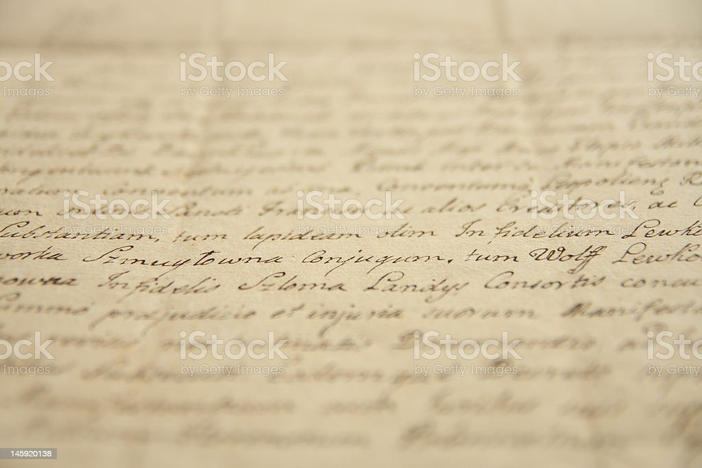 Old manuscript royalty-free stock photo
