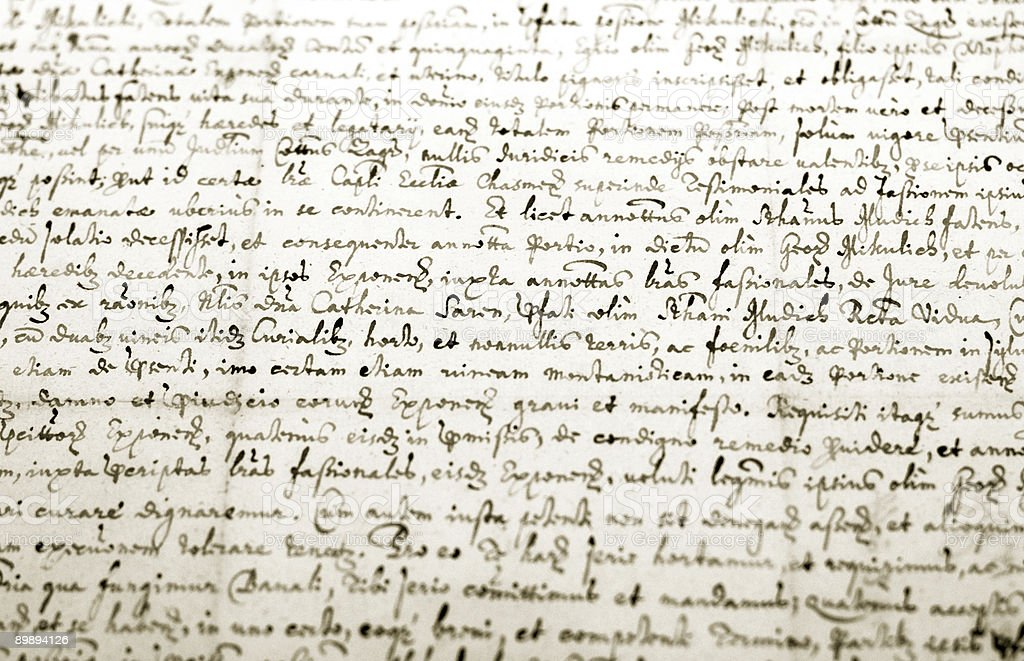 Old manuscrito - foto de stock