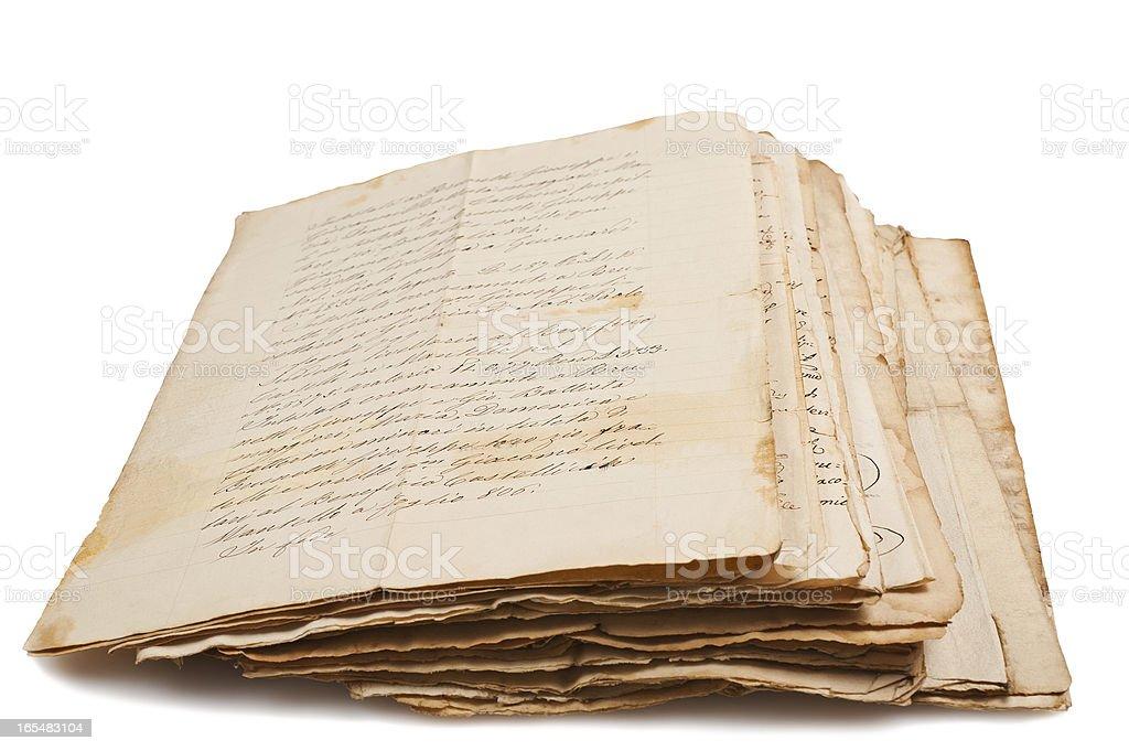 Old manuscripts royalty-free stock photo