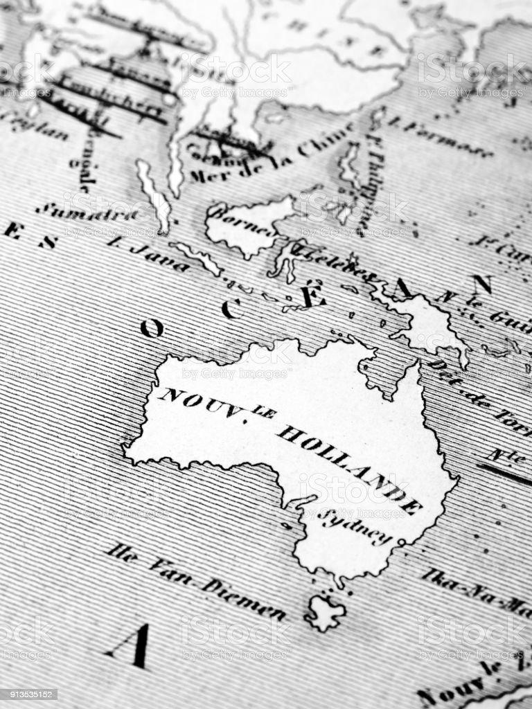Map Around Australia.Old Map Around Australia Stock Photo Download Image Now Istock