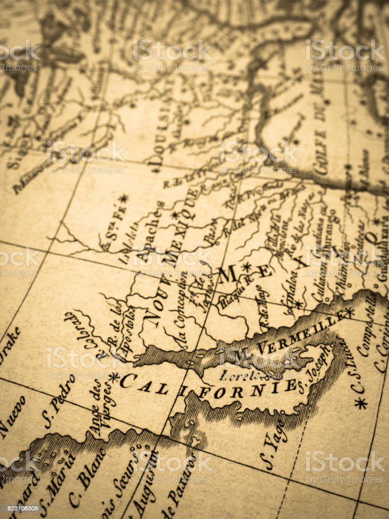 Old map california peninsula stock photo istock map world map california japan mexico gumiabroncs Images