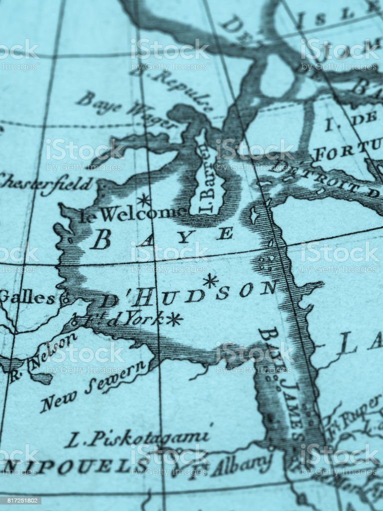 Old Map Canada Hudson Bay Stock Photo More Pictures Of 18th