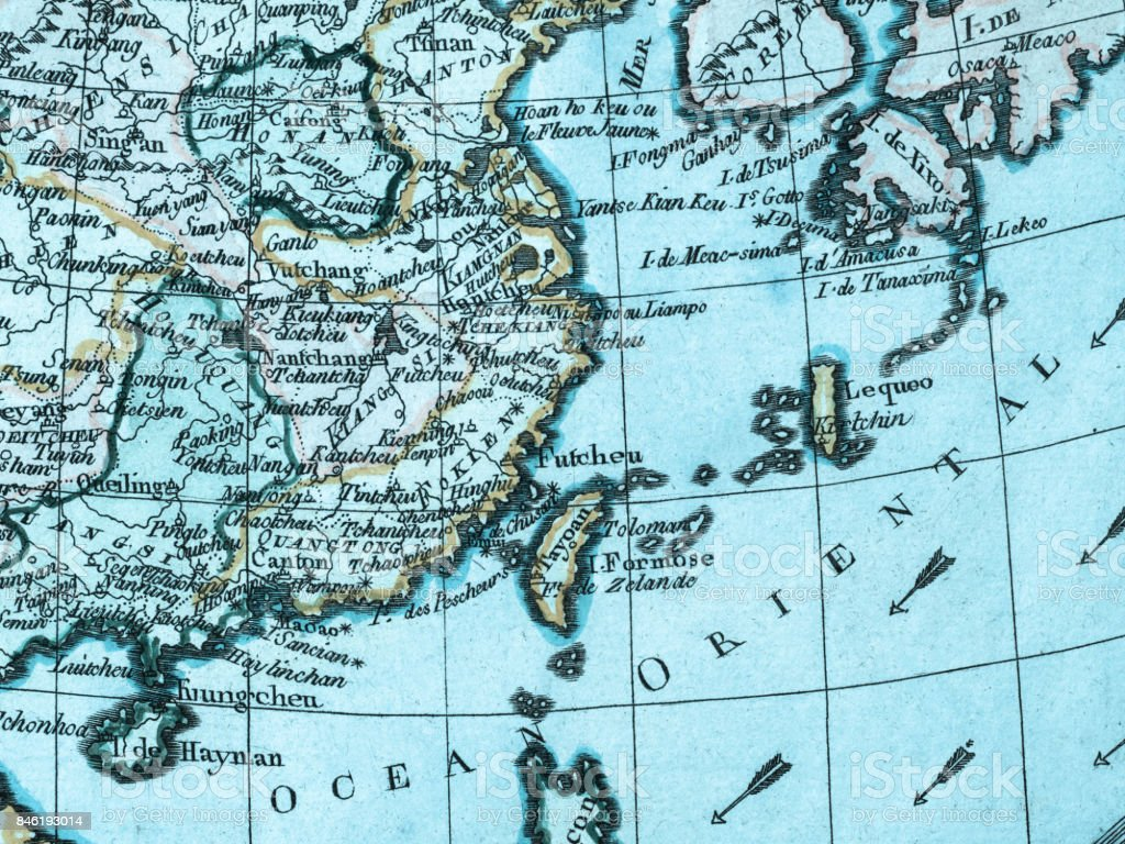 Map Of Asia 1930.Old Map East Asia Stock Photo More Pictures Of 18th Century Istock