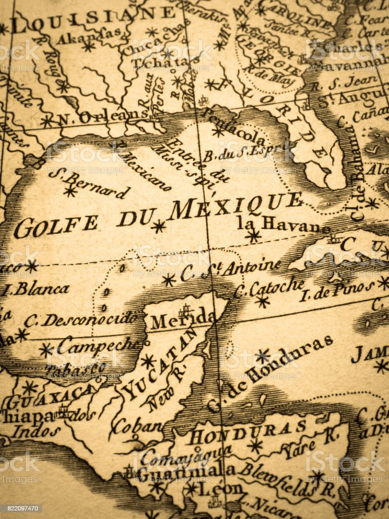 Old map gulf of mexico stock photo more pictures of 18th century old map gulf of mexico royalty free stock photo gumiabroncs Image collections
