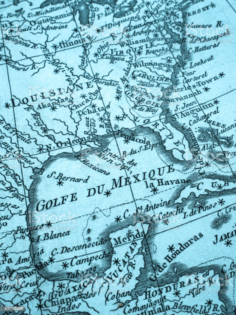 Old map gulf of mexico stock photo more pictures of 18th century map mexico north america world map yucatan peninsula gumiabroncs Gallery