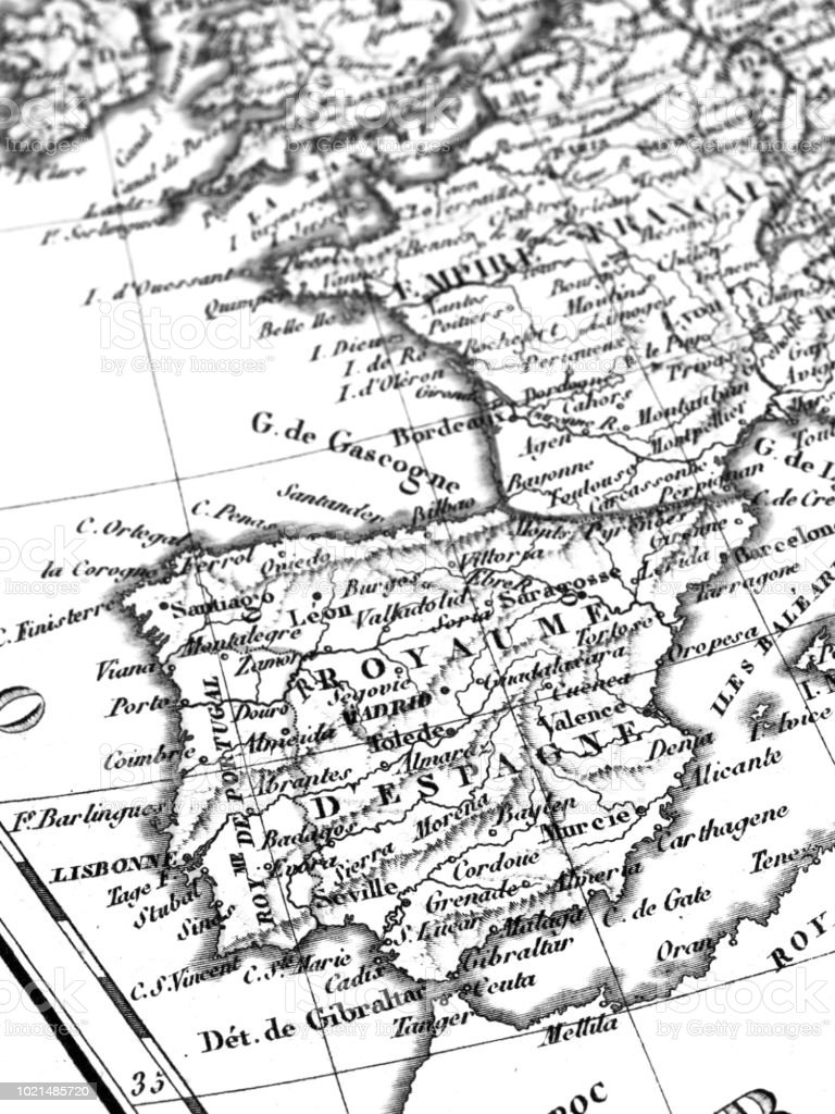 old map iberia peninsula stock photo more pictures of 19th century Anatolian Peninsula Map old map iberia peninsula royalty free stock photo