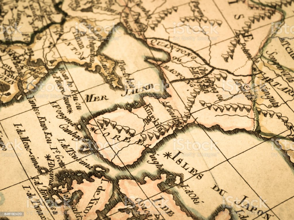 Old map korean peninsula and east asia stock photo 846192420 istock map world map beijing china east asia dalian old map korean peninsula gumiabroncs Images